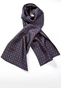 Elegant Men's Silk Scarf in Navy