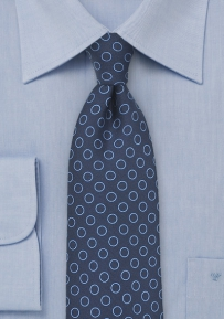 Dot Print Silk Tie in Blue