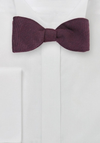 Self Tie Wool Bow Tie in Burgundy
