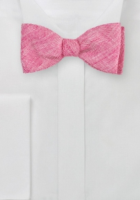 Summer Linen Bow Tie in Solid Red