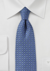 Narrow Width Tie with Diamond Checks