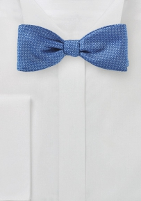 Blue Ink Bow Tie with Graphic Checks