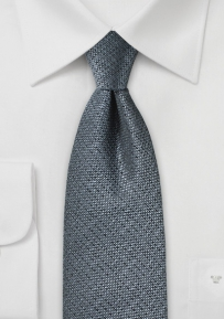 Metallic Gray Textured Necktie