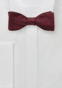 Woven Silk Bow Tie in Classic Burgundy