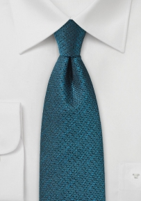 Textured Silk Tie in Blue Coral Color