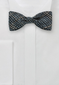 Snake Skin Design Bow Tie in Gray