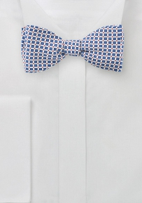Summer Bow Tie in Printed Silk