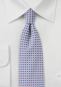 Slim Cut Foulard Print in Pale Blue