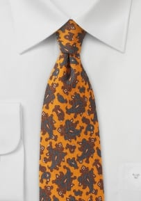 Antique Gold Paisley Tie in Wool
