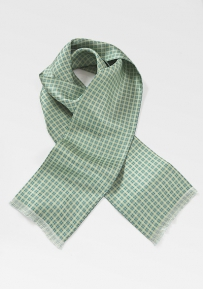 Graphic Lime Scarf with Teal Details
