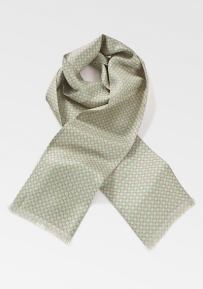 Stylish Art Deco Scarf in Limes and Pinks