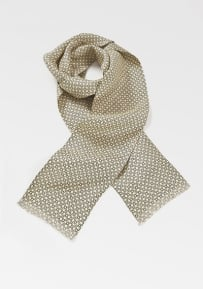 Modern Menswear Scarf in Yellows and Blues