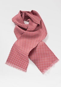 Modern Scarf in Coral Pinks