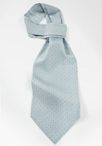 Circle Patterned Ascot in Pastel Blues and Yellows