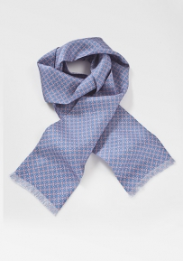 Periwinkle and Pink Pattered Scarf