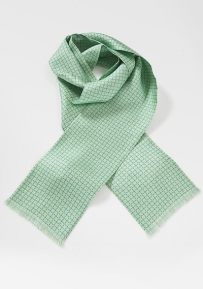 Spring Green Scarf with Blue Accents