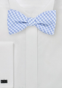 Summer Cotton Bow Tie in Sky Blue