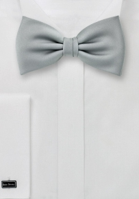 Solid Silk Bowtie Light Silver