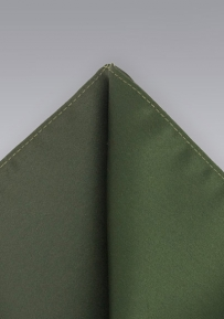 Microfiber Pocket Square in Dark Olive