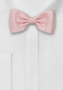 Solid Pink Bow Tie