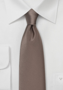 Mens Necktie in Cafe Latte Brown