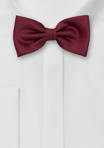 Burgundy-Red Bow Tie