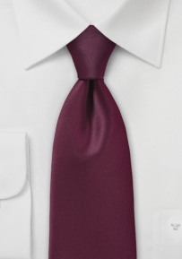 Elegant Deep Burgundy Colored Necktie