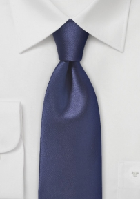 Solid Midnight Blue Colored Men's Tie