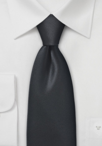 Satin Finished Black Necktie