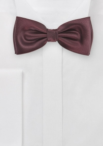 Mens Dark Burgundy Bow Tie