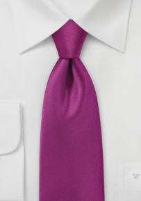 Mens Necktie in Dark Fuchsia