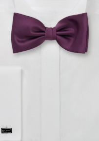 Solid Mens Bow Tie in Wine Red