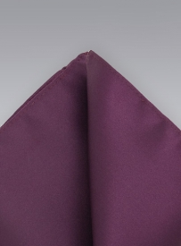 Silk Handkerchief in Wine Red