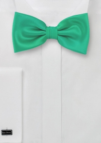 Mens Bow Tie in Jade Green