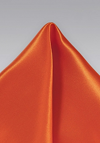 Mens Tuscan Orange Handkerchief