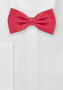 Mens Bow Tie in Hibiscus Red