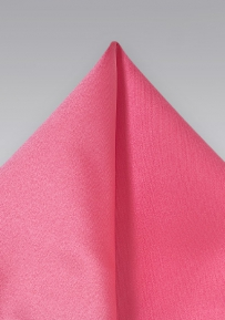 Coral Pink Mens Pocket Square