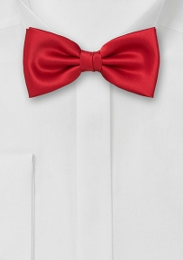 Solid Bright Red Bow Tie