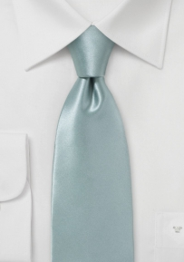 Solid Silver Colored Men's Necktie
