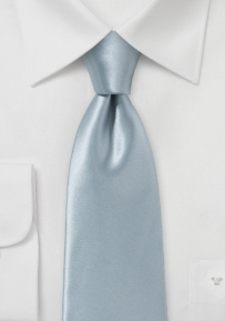 Elegant Silver Tie Made from Italian Silk