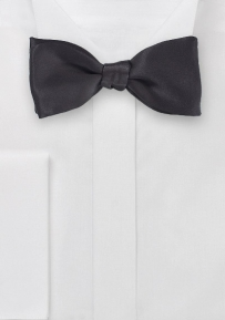 Timeless Bowtie Style in All Black Silk