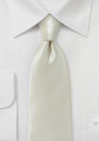 Stunning Ivory Necktie Made from 100% Silk