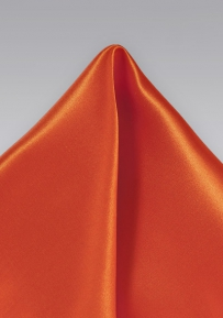 Radiant Silk Tangerine Handkerchief with Satin Finish