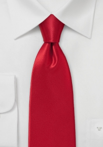100% Italian Silk Necktie in Rich Red Hue