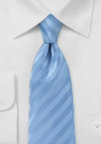 Modern Narrow Tie in French Blue