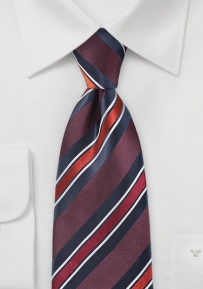 Ivy League Striped Tie in Crimson