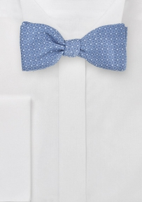 Jacquard Woven Self-Tie Bowtie with Art Deco Pattern