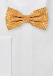 Modern Box Patterned Bowtie in Pure Silk