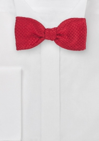 Modern Red Self-Tied Bow Tie
