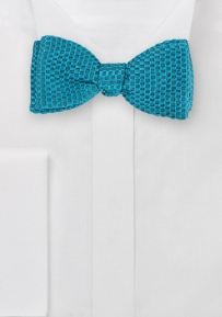 Textured Bow Tie in Bright Turquoise